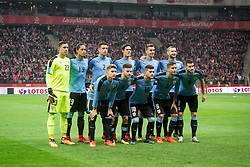 November 10, 2017 - Warsaw, Poland - Uruguay national football team during the international friendly soccer match between Poland and Uruguay at the PGE National Stadium in Warsaw, Poland on 10 November 2017  (Credit Image: © Mateusz Wlodarczyk/NurPhoto via ZUMA Press)