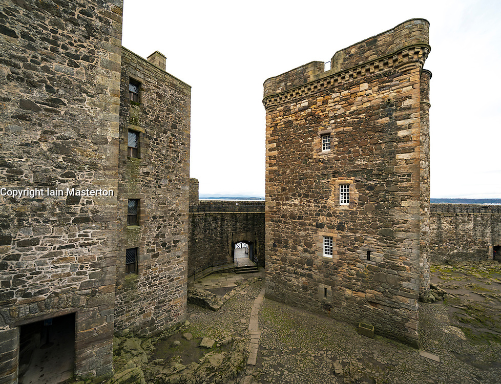 Blackness Castle  a 15th-century fortress, near the village of Blackness, Scotland, on the south shore of the Firth of Forth, Scotland, UK. Blackness Castle was used as location for the Outlander TV series.
