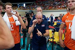 21-09-2019 NED: EC Volleyball 2019 Netherlands - Germany, Apeldoorn<br /> 1/8 final EC Volleyball / Coach Roberto Piazza of Netherlands