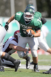 08 September 2012:  T.J. Stinde during an NCAA division 3 football game between the Alma Scots and the Illinois Wesleyan Titans which the Titans won 53 - 7 in Tucci Stadium on Wilder Field, Bloomington IL
