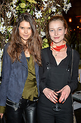 Left to right, SARAH ANN MACKLIN and EMILY VAN RAAY at The Ivy Kensington Brasserie International Women's Day & Terrace Launch Party held at The Ivy Kensington Brasserie, 96 Kensington High Street, London on 8th March 2016.