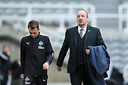 Newcastle United manager Rafael Benitez arrives ahead of the Premier League match between Newcastle United and Swansea City at St. James's Park, Newcastle, England on 13 January 2018. Photo by Craig Doyle.