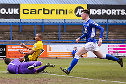 Bristol Rovers' Jermaine Easter fires a shot towards goal   - Photo mandatory by-line: Neil Brookman/JMP - Mobile: 07966 386802 - 28/03/2015 - SPORT - Football - Macclesfield - Moss Rose - Macclesfield Town v Bristol Rovers - Vanarama Football Conference