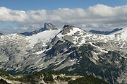 View of Eiley-Wiley Ridge near Mount Challenger, seen from Tapto Lakes. North Cascades National Park.