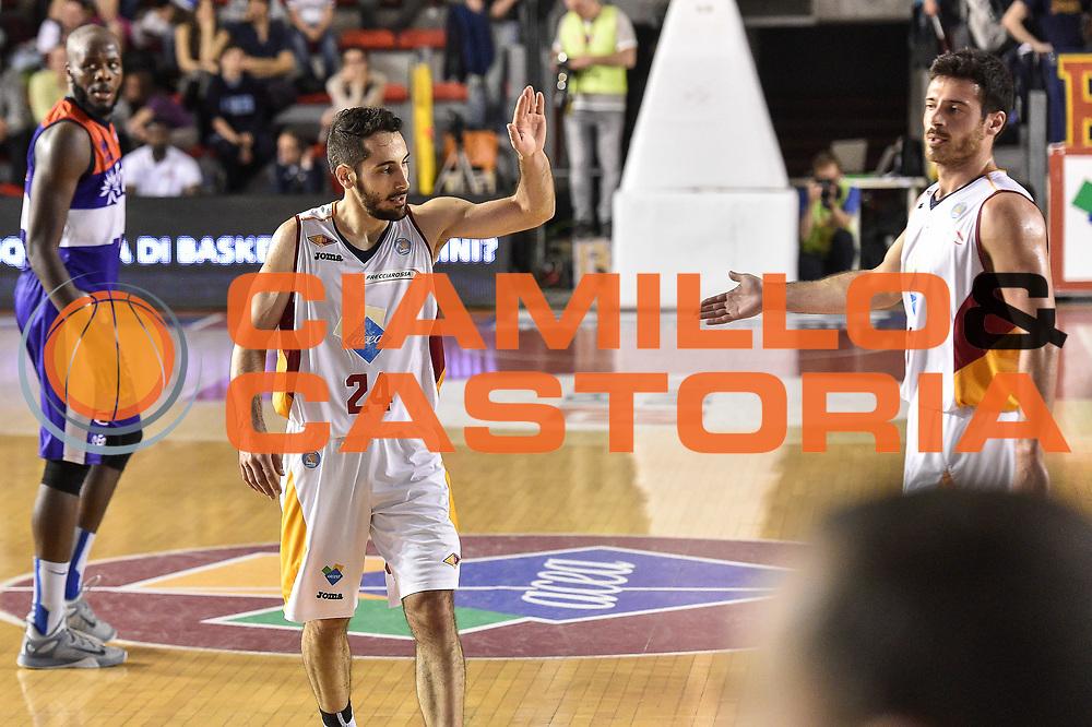 DESCRIZIONE : Campionato 2014/15 Virtus Acea Roma - Enel Brindisi<br /> GIOCATORE : Rok Stipcevic<br /> CATEGORIA : Fair Play<br /> SQUADRA : Virtus Acea Roma<br /> EVENTO : LegaBasket Serie A Beko 2014/2015<br /> GARA : Virtus Acea Roma - Enel Brindisi<br /> DATA : 19/04/2015<br /> SPORT : Pallacanestro <br /> AUTORE : Agenzia Ciamillo-Castoria/GiulioCiamillo
