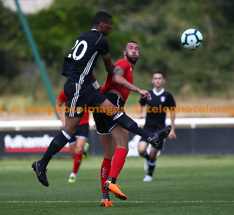 Crawley's Ollie Palmer  during the pre season friendly between Fulham and Crawley Town at Motspur Park Training Ground, London, UK. 07 July 2018.