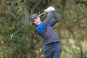 Tommy Fleetwood of England watches his drive during the British Masters 2018 at Walton Heath Golf Course, Walton On the Hill, Surrey on 14 October 2018. Picture by Martin Cole.