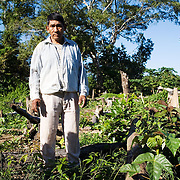 Bolivia. Copacobana. ______name? TBC. standing in the area where he once grew water mellon. All his crop were destroyed in the last floods of 2008.