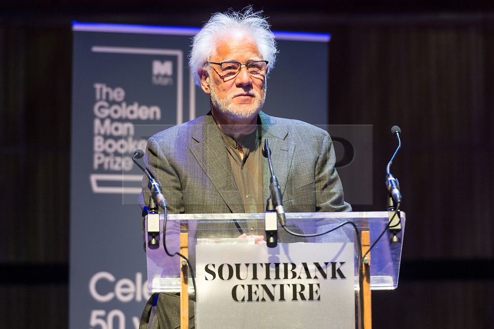 © Licensed to London News Pictures. 08/07/2018. London, UK. Author Michael Ondaatje wins The Golden Man Booker celebrating the 50th anniversary of the Man Booker prize. The author won with their book The English Patient. Photo credit: Ray Tang/LNP