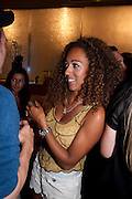 DANIELLE BROWN, Beau Bronz  ( Tanning system ) launch, Avista Bar, Millennium Hotel, Grosvenor Sq. London. 17 August 2011.<br /> <br />  , -DO NOT ARCHIVE-© Copyright Photograph by Dafydd Jones. 248 Clapham Rd. London SW9 0PZ. Tel 0207 820 0771. www.dafjones.com.