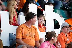 THE HAGUE - Rabobank Hockey World Cup 2014 - 2014-06-10 - MEN - NEW ZEALAND - THE NETHERLANDS -  jeugdige supporter.<br /> Copyright: Willem Vernes