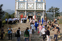 Catholic procession in Shaanxi province, China, in September 2005