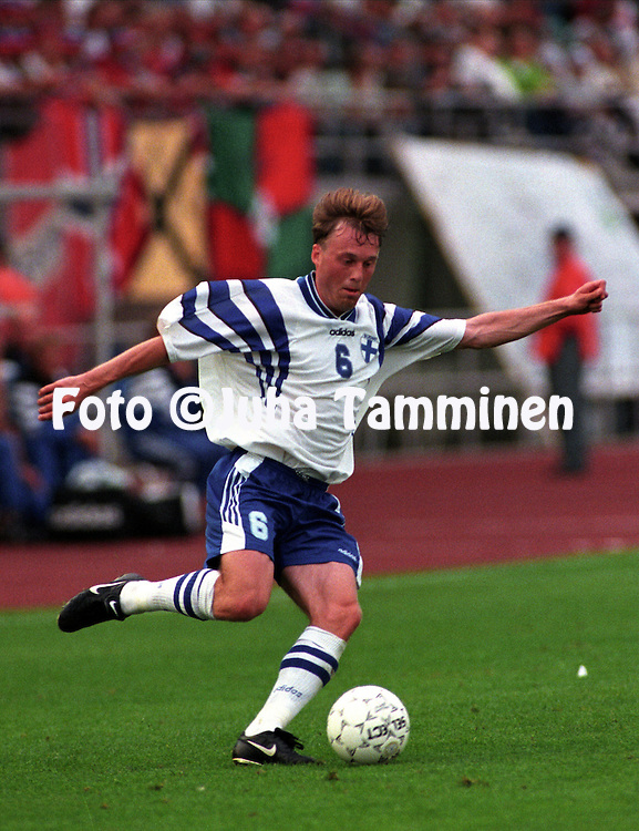 20.08.1997, Helsinki, Finland.FIFA World Cup Qualifying match, Finland v Norway.Sami Mahlio - Finland.©JUHA TAMMINEN
