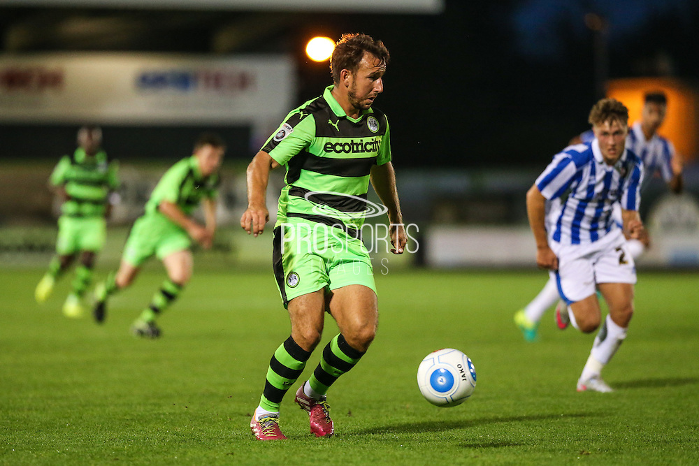 Forest Green Rovers Matt Tubbs (20) during the Gloucestershire Senior Cup match between Forest Green Rovers and Cheltenham Town at the New Lawn, Forest Green, United Kingdom on 20 September 2016. Photo by Shane Healey.