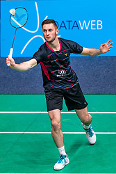Ruben Jille in action during the Dutch Championships Badminton on February 2, 2020 in Topsporthal Almere, Netherlands