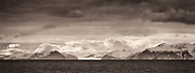 Mountains and glacier panorama, Svalbard