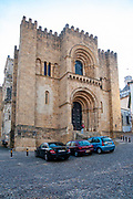 The entrance to the old Romanesque Cathedral (13th century), Coimbra, Portugal
