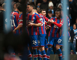 Crystal Palace celebrate after scoring their late second goal - Mandatory by-line: Jack Phillips/JMP - 18/01/2020 - FOOTBALL - Etihad Stadium - Manchester, England - Manchester City v Crystal Palace - English Premier League