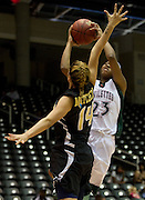 Derita Silas (23) of Mississippi Valley State University drives to the basket against Arkansas-Pine Bluff during the SWAC semi-finals at the Curtis Culwell Center in Garland on Friday, March 15, 2013. (Cooper Neill/The Dallas Morning News)