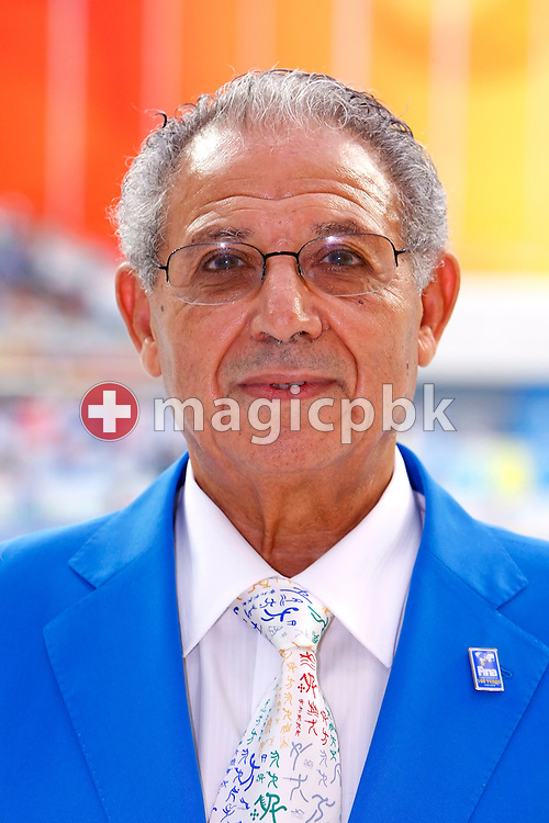 Dr. Mohamed Kouidri - Vice Chairman of FINA Sports Medicine - SMC - is pictured during a photo call held at the National Aquatics Center (Water Cube) at the Beijing 2008 Olympic Games in Beijing, China, Monday, Aug. 11, 2008. (Photo by Patrick B. Kraemer / MAGICPBK)