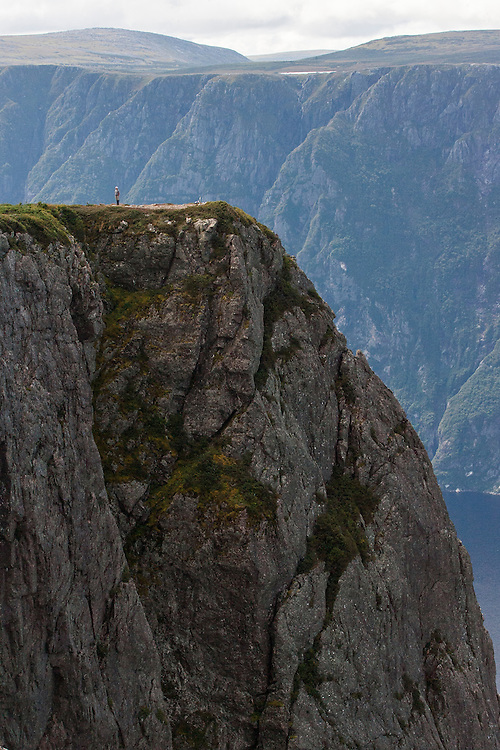 Atop Gros Morne in Gros Morne National Park, Newfoundland. Gros Morne National Park is a world heritage site located on the west coast of Newfoundland. At 1,805 km², it is the second largest national park in Atlantic Canada. © Allen McEachern