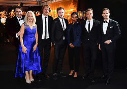 Jonathan Ross, Amanda Nevill, Josh Berger, Daniel Kokotaijlo, Rungano Nyoni, Michael Pearce and Chris Grainger-Herr attending the BFI Luminous Fundraising Gala held at the Guildhall, London.