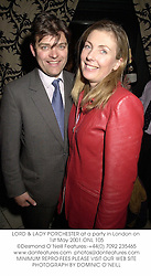 LORD & LADY PORCHESTER at a party in London on 1st May 2001.	ONL 105