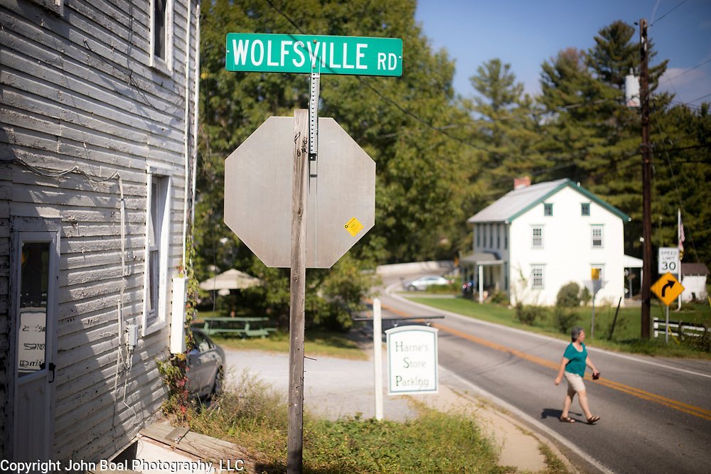 Wolfsville, Maryland, on Tuesday, September 26, 2017. Wolfsville resident, Sharon Strine, is the plaintiff in a case contesting the redistricting of Maryland's Congressional Districts. Formerly of Maryland's 6th District, Wolfsville is now part of the 8th District. The 6th was redistricted in 2011, combining rural northern Maryland regions with more affluent communities like near Washington D.C. turning the district from Republican to Democrat. <br />  <br /> CREDIT: John Boal for The Wall Street Journal<br /> GERRYMANDER