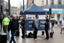 UK ENGLAND LONDON CROYDON 16APR16 - General view of the stall of the Vote Leave campaign on the Croydon high street in south London.<br /> <br /> jre/Photo by Jiri Rezac<br /> <br /> © Jiri Rezac 2016