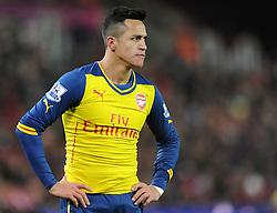 Arsenal's Alexis Sanchez - Photo mandatory by-line: Dougie Allward/JMP - Mobile: 07966 386802 - 06/12/2014 - SPORT - Football - Stoke - Britannia Stadium - Stoke City v Arsenal - Barclays Premie League