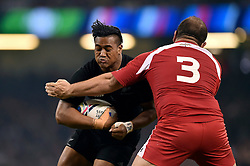 Malakai Fekitoa of New Zealand is tackled by Levan Chilachava of Georgia - Mandatory byline: Patrick Khachfe/JMP - 07966 386802 - 02/10/2015 - RUGBY UNION - Millennium Stadium - Cardiff, Wales - New Zealand v Georgia - Rugby World Cup 2015 Pool C.