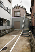 residential houses with car park in Japan