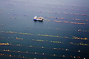Nederland, Zeeland, Oosterschelde, 04-07-2006; luchtfoto (25 % toeslag); mosselbanken in Roompot, vlak bij Neeltje Jans..Musselbeds in Roompot near Neeltje Jans..  luchtfoto (toeslag); aerial photo (additional fee required); .foto Siebe Swart / photo Siebe Swart