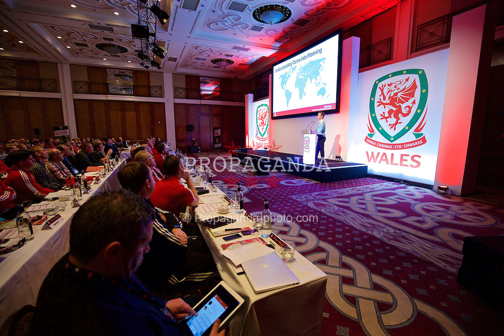 NEWPORT, WALES - Friday, May 20, 2016: Ryan Alexander during the Football Association of Wales' National Coaches Conference 2016 at the Celtic Manor Resort. (Pic by David Rawcliffe/Propaganda)