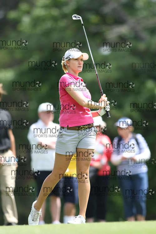 (Canberra, Australia---22 January 2012) Sara-Jane Smith of Queensland playing in the 2012 ActewAGL Ladies Classic golf championship at the Royal Canberra Golf Club in Canberra, ACT, Australia. Copyright 2012 Sean Burges / Mundo Sport Images, www.mundosportimages.com