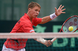 Ricardas Berankis of Lithuania at 2nd Round of 2nd Euroafrican group of Davis cup tennis match between Slovenia and Lithuania, on July 10 2009, in Otocec, Novo mesto, Slovenia. (Photo by Vid Ponikvar / Sportida)