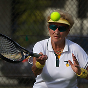 Elsie Crowe, Australia, in action in the 80 Womens Doubles Final  during the 2009 ITF Super-Seniors World Team and Individual Championships at Perth, Western Australia, between 2-15th November, 2009.