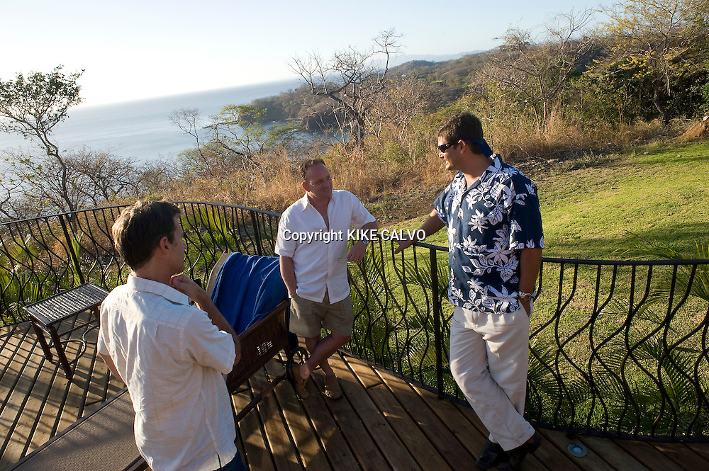 Peninsula Papagayo on Costa Rica's north Pacific Coast.Pictured: Co-owner Frank Risso enjoys a conversation at the terrace of his $6 million dollar home in the Peninsula. B1276