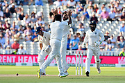 Wicket - Ravichandran Ashwin of India celebrates taking the wicket of Alastair Cook of England with Virat Kohli (captain) of India  during second day of the Specsavers International Test Match 2018 match between England and India at Edgbaston, Birmingham, United Kingdom on 2 August 2018. Picture by Graham Hunt.