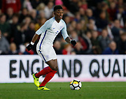 Demarai Gray of England during the U21 UEFA EURO first qualifying round match between England and Scotland at the Riverside Stadium, Middlesbrough, England on 6 October 2017. Photo by Paul Thompson.