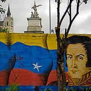 Mural de Simon Bolivar en el Liceo Fermin Toro, Caracas - Venezuela .Photography by Aaron Sosa.Venezuela 2006.(Copyright © Aaron Sosa)
