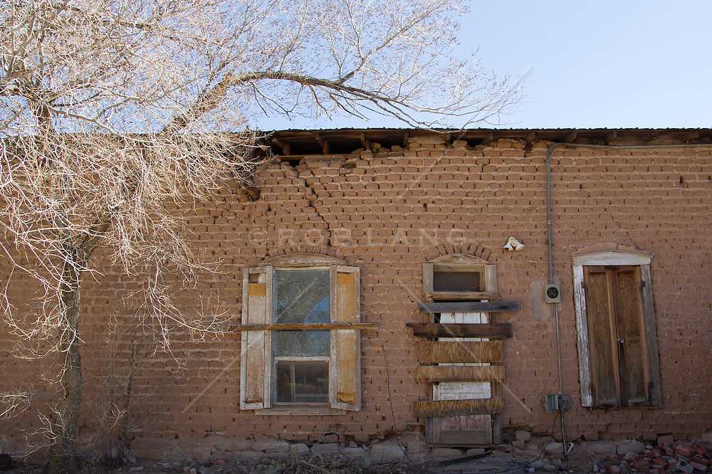 abandoned building in Cerrillos, New Mexico