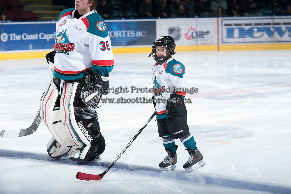 KELOWNA, CANADA - JANUARY 24:   Seattle Thunderbirds at the Kelowna Rockets on January 24, 2013 at Prospera Place in Kelowna, British Columbia, Canada (Photo by Marissa Baecker/Shoot the Breeze) *** Local Caption ***