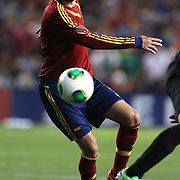 Gerard Pique, Spain, in action during the Spain V Ireland International Friendly football match at Yankee Stadium, The Bronx, New York. USA. 11th June 2013. Photo Tim Clayton