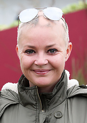 Gail Porter at the preview day of the RHS Hampton Court Palace flower show , Monday, 2nd July 2012.  Photo by: Stephen Lock / i-Images