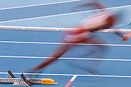 Shawna Fermin from Trinidad and Tobago competes in women's relay 4x400 meters qualification during the 14th IAAF World Athletics Championships at the Luzhniki stadium in Moscow on August 16, 2013.<br /> <br /> Russian Federation, Moscow, August 16, 2013<br /> <br /> Picture also available in RAW (NEF) or TIFF format on special request.<br /> <br /> For editorial use only. Any commercial or promotional use requires permission.<br /> <br /> Mandatory credit:<br /> Photo by © Adam Nurkiewicz / Mediasport