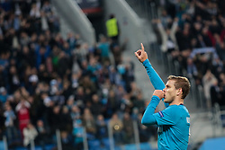 September 28, 2017 - Saint Petersburg, Russia - Aleksandr Kokorin of FC Zenit Saint Petersburg celebrates his goal during the UEFA Europa League Group L football match between FC Zenit Saint Petersburg and FC Real Sociedad at Saint Petersburg Stadium on September 28, 2017 in St.Petersburg, Russia. (Credit Image: © Igor Russak/NurPhoto via ZUMA Press)