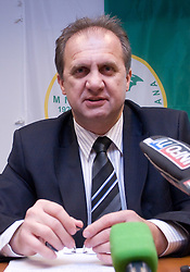 Ivan Simic at press conference when he introduced his campaign for the president of Slovenian football federation, on February 4, 2009, in Ljubljana, Slovenia. (Photo by Vid Ponikvar / Sportida)