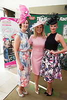 At the launch of The Galway Races summer festival 2015 were Shirley Bracken Athlone town Centre , Marietta Doran who will be judging the Friday Fair lady competition (along with Roz Purcell) and Catwalk model Katie Geoghegan during the races . The launch was held at the Radisson blu Galway  .Photo:Andrew Downes:XPOSURE