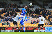 Calvin Andrew, Grant Holt during the Sky Bet League 1 match between Port Vale and Rochdale at Vale Park, Burslem, England on 23 April 2016. Photo by Daniel Youngs.